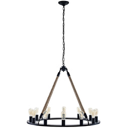 Encircle Chandelier, Brown
