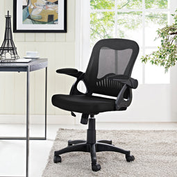 Advance Reception Computer Desk Office Chair - With Flipup Arms