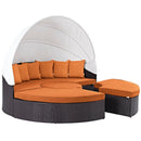 Load image into Gallery viewer, Convene Canopy Outdoor Patio Daybed In Rattan