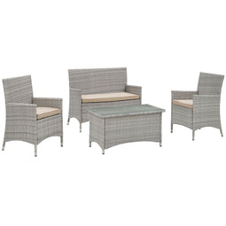 Bridge 4 Piece Outdoor Patio Conversation Set