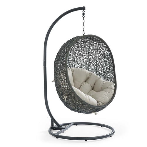 Egg Hammock Chair With Hanging Kits - Fastness Hanging Hide Outdoor Patio Swing Chair With Stand