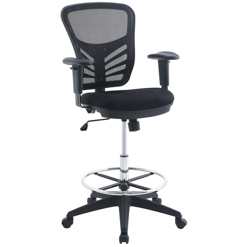 Drafting Chair with Steel Foot Ring for Modern Offices
