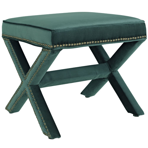 Modern Upholstered Performance Rivet Velvet Corner Bench - Entryway Living Room Bench