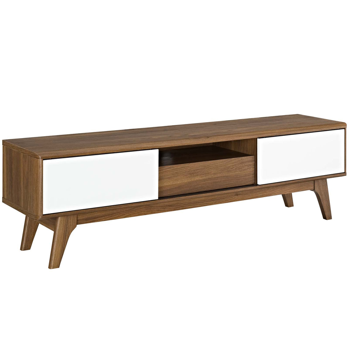 Mid - Century Modern Low Profile Media Entertainment Center Tv Console Table