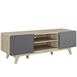 Modern Tread Media Console Tv Entertainment Stand - Storage Console Tv Stand
