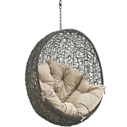 Hammock Chair Porch Bean Outdoor Patio Swing Chair - Without Swing Chair With Comfortable Cushions Seat