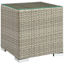 Load image into Gallery viewer, Repose Wicker Rattan Outdoor Patio Side End Table - Bedside Table - Side Table