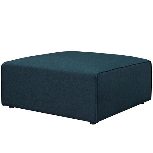 Contemporary Square Large Mingle Tufted Lift Fabric Ottoman In Blue