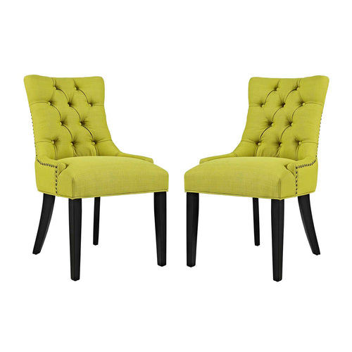 Modern Elegant Regent Side Chair Set Of 2 - Kitchen And Fabric Dining Side Chair Set