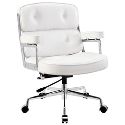 Remix Deluxe Vinyl Executive Modern Ergonomic Office Chair with Adjustable Armrests