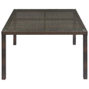 Load image into Gallery viewer, Conduit Outdoor Patio Wicker Rattan Dining Table