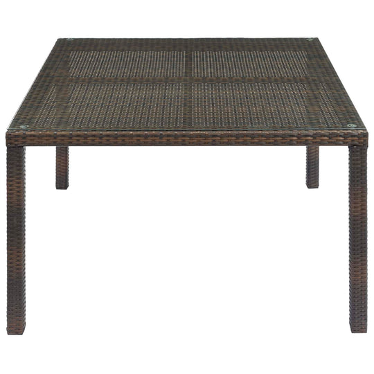 Conduit Outdoor Patio Wicker Rattan Dining Table