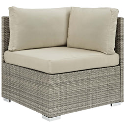 Repose Sunbrella Fabric Outdoor Patio Corner