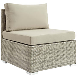 Repose Sunbrella Fabric Outdoor Patio Armless Chair