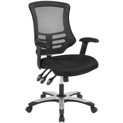 Mid Back Calibrate Mesh Office Chair with Padded Armrest- Ergonomic  Computer Desk
