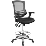 Calibrate Mesh drafting Chair With Height Adjustable Armrests - Tall Office Chair With Breathable Mesh Back