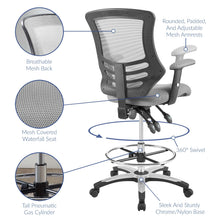 Load image into Gallery viewer, Calibrate Drafting Chair With Height Adjustable - Office Chair With Breathable Mesh Back