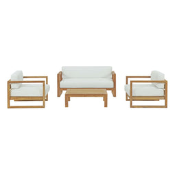 Upland 4 Piece Outdoor Patio Teak Set