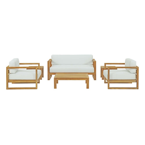 Upland 6 Piece Outdoor Patio Teak Set