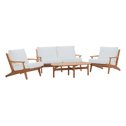 Saratoga 4 Piece Outdoor Patio Teak Set
