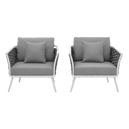 Stance Armchair Outdoor Patio Aluminum Set Of 2