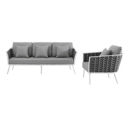 Stance Outdoor Patio Aluminum Sectional Sofa Set