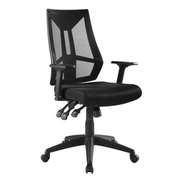 Tall Extol Mesh Office Chair WIth Armrest Height For Adjustable Computer Desk