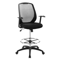 Interpid Drafting Black-Tall Office Chair for Adjustable Standing With Adequate Leg Support