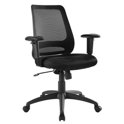 High Back Adjustable Forge Mesh Office Chair With Recline - For Desk Chair, Black