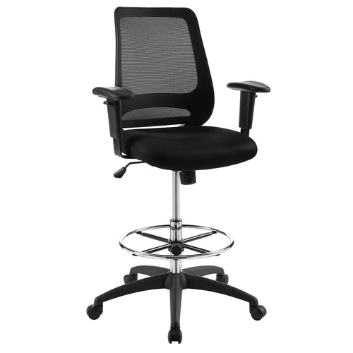 High Back Adjustable Forge Mesh Office Chair With Recline Desk Chair, Black