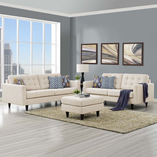 Modern Empress Sofa And Loveseat - Comfy Chairs 2 - Set - Sectional Living Room Set