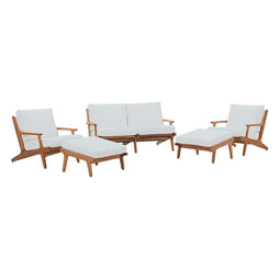 Saratoga 5 Piece Outdoor Patio Teak Set