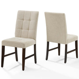 Promulgate Biscuit Tufted Upholstered Dining Chair Set of 2