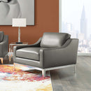 Load image into Gallery viewer, Harness Stainless Steel Base Leather Armchair