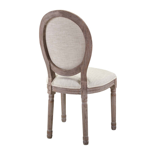 Modern Upholstered Emanate Dining Armless Chair - Vintage Classic Accent Chair