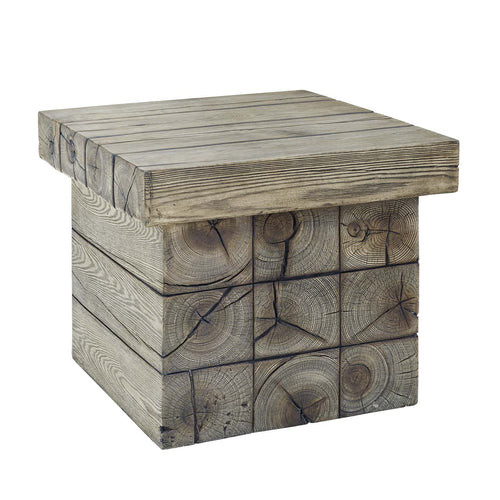 Manteo Rustic Coastal Outdoor Patio Side Table
