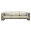 Load image into Gallery viewer, Manteo Rustic Coastal Outdoor Patio Sunbrella Sofa