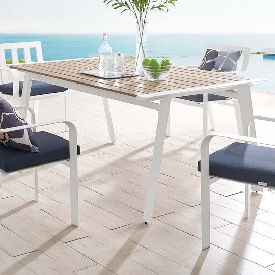 "Roanoke 73"" Outdoor Patio Aluminum Dining Table"