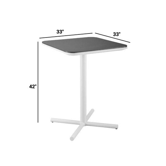 Raleigh Outdoor Patio Aluminum Bar Table