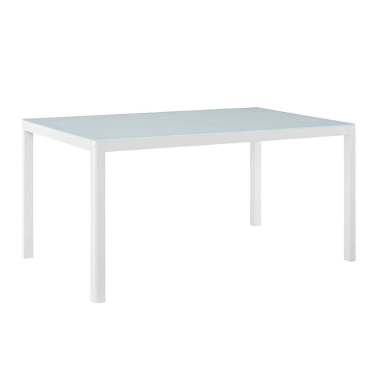 "Raleigh 59"" Outdoor Patio Aluminum Dining Table"