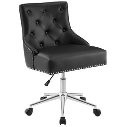 Regent Tufted Button Swivel Faux Leather Ergonomic Office Chair - Best Desk Chair