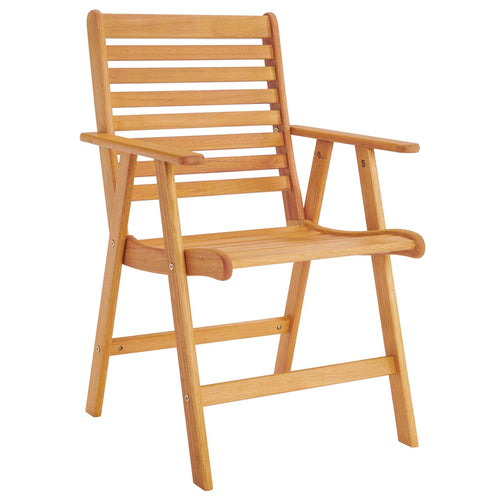 Hatteras Outdoor Patio Eucalyptus Wood Dining Armchair