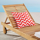 Load image into Gallery viewer, Hatteras Outdoor Patio Eucalyptus Wood Chaise Lounge Chair