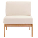Load image into Gallery viewer, Sedona Outdoor Patio Eucalyptus Wood Sectional Sofa Armless Chair