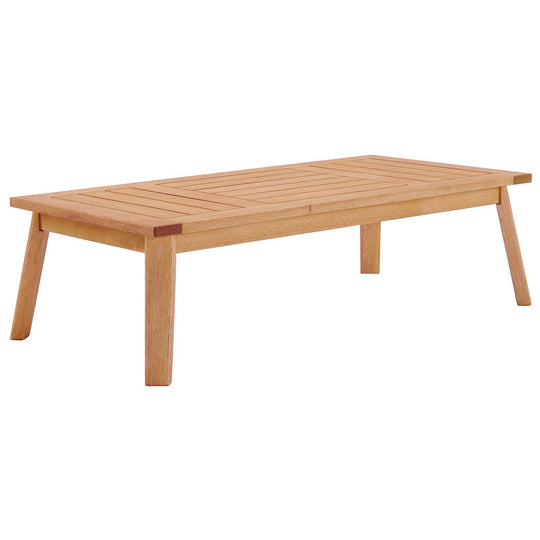 Sedona Outdoor Patio Eucalyptus Wood Coffee Table