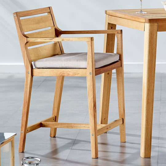 Portsmouth Karri Wood Outdoor Patio Bar Stool