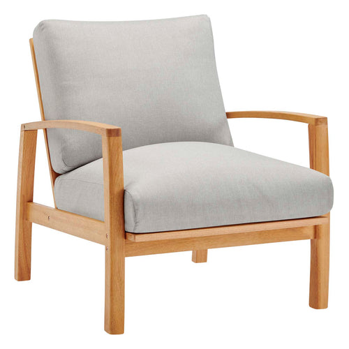 Orlean Outdoor Patio Eucalyptus Wood Lounge Armchair