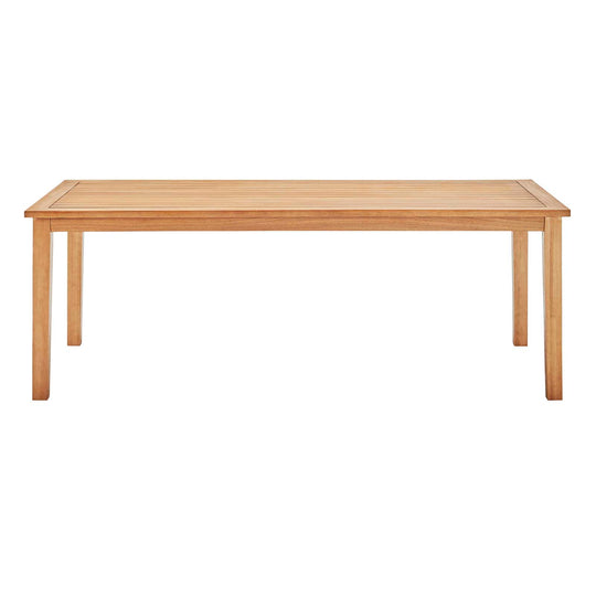 "Viewscape 83"" Outdoor Patio Ash Wood Dining Table"