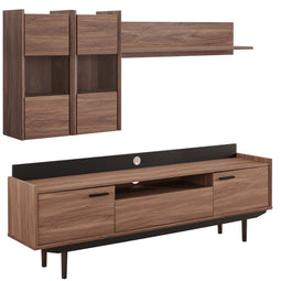 Modern Visionary Corner Universal 2 Piece Entertainment Center - Wall Tv Stand