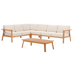 Sedona Outdoor Patio Eucalyptus Wood Sectional